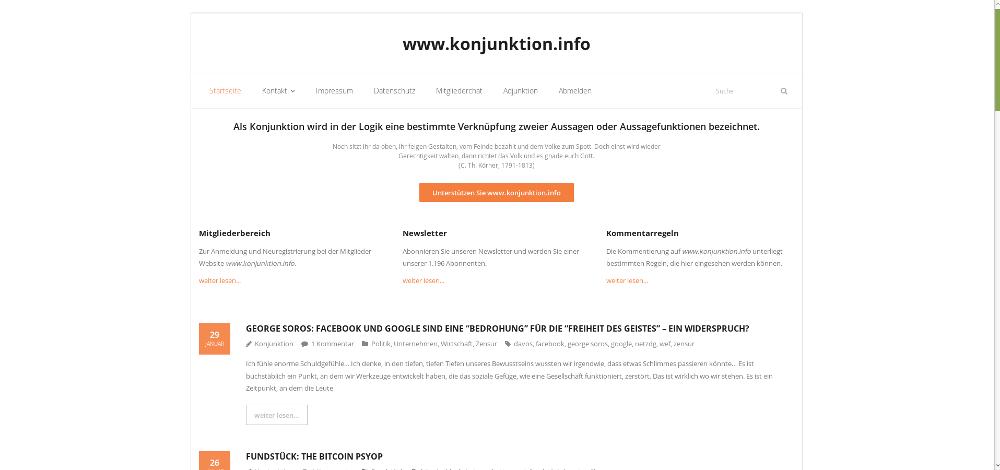 Design 2 - Startseite - Bildquelle: www.konjunktion.info