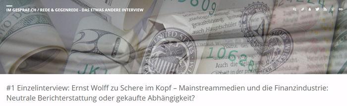 Ernst Wolff im Einzelinterview - Bildquelle: www.konjunktion.info