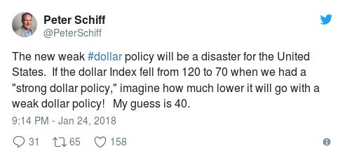 Tweet 2 Peter Schiff - Bildquelle: Screenshot-Ausschnitt Twitter