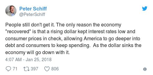 Tweet 3 Peter Schiff - Bildquelle: Screenshot-Ausschnitt Twitter