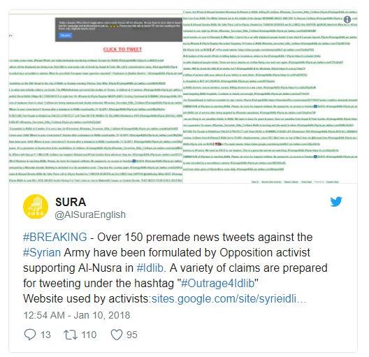 Tweet Al-Sura - Bildquelle: Screenshot-Ausschnitt Twitter