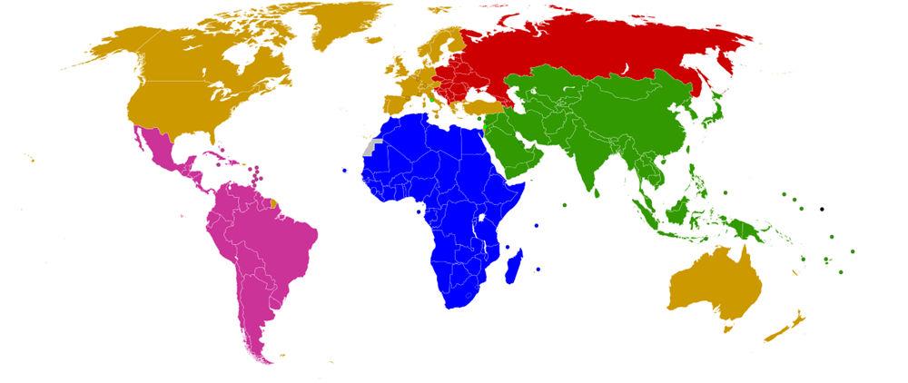 Fünf Gruppen der UN - Bildquelle: Wikipedia