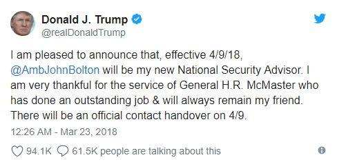 Tweet Donald Trump - Bildquelle: Screenshot-Auschnitt Twitter
