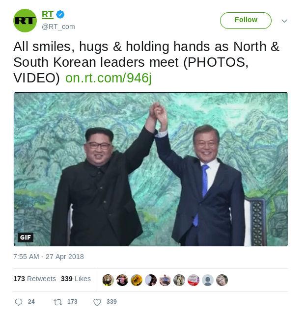 Korea - Bildquelle: Screenshot-Ausschnitt Twitter