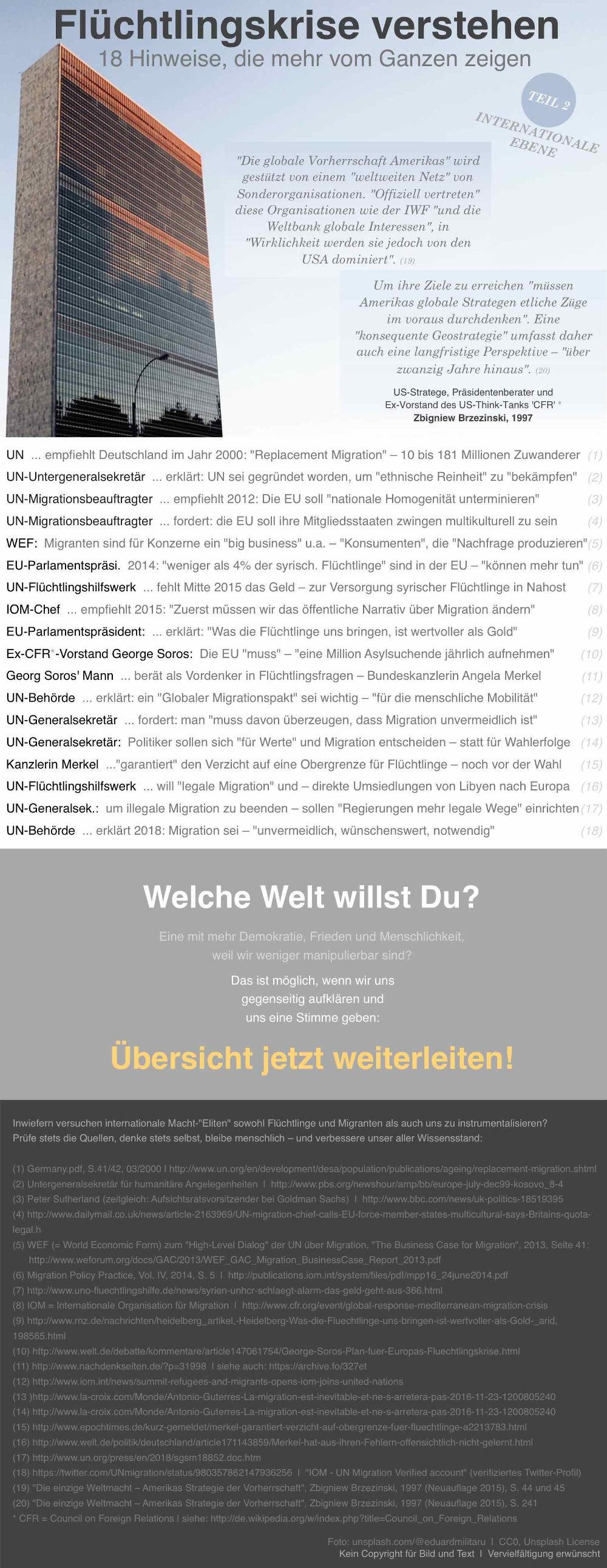 Infografik – Flüchtlingskrise verstehen 2 – Bildquelle: unbekannt / unsplash.com/@eduardmilitaru | CC0, Unsplash License