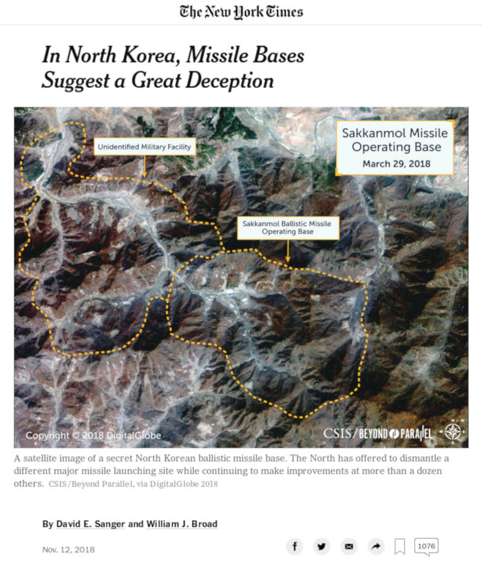 New York Times - Nord-Korea - Bildquelle: Screenshot-Ausschnitt www.nytimes.com