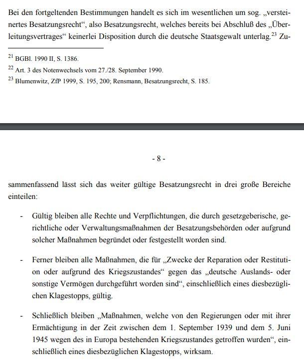 Besatzungsrecht - Bildquelle: Screenshot -Ausschnitt PDF des WD
