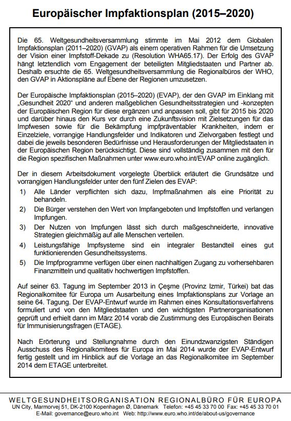 Europäischer Impfaktionsplan - Bildquelle: Screenshot-Ausschnitt PDF