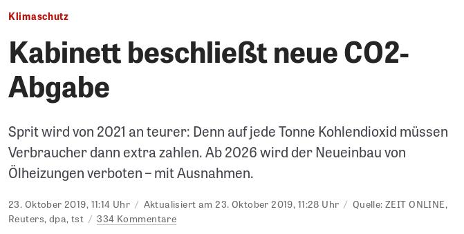 Zeit CO2-Steuer - Bildquelle: Screenshot-Ausschnitt www.zeit.de