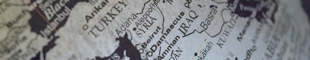 Syrien Kartenausschnitt - Bildquelle: Pixabay / ErikaWittlieb; Pixabay License