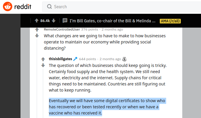 Bill Gates Reddit - Bildquelle: Screenshot-Ausschnitt Reddit