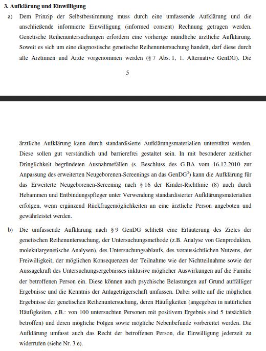 RKI-Richtlinie - Aufklärung und Einwilligung - Bildquelle: Screenshot-Ausschnitt PDF